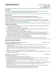 chemical environmental engineer resume sample eager world annamua