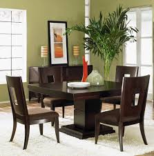 Dining Room Feature Wall Dining Room Modern Interior Dining Room Ideas Feature Brown