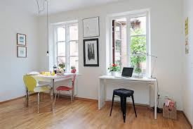 Small Dining Room Decorating Antique And Modest Apartment Dining Room With Black Chairs And