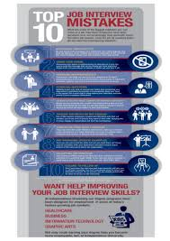 top job interview mistakes you need to avoid infographic