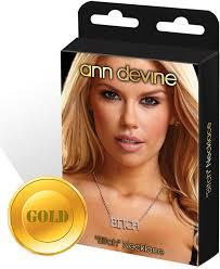 <b>Цепочка с подвеской Ann</b> Devine Bitch, золотой — купить в ...