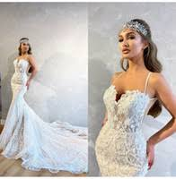 Shop <b>Luxury Cathedral Train</b> Mermaid Wedding Dress UK | <b>Luxury</b> ...
