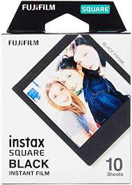 Fujifilm Instax Square Black Film - 10 Exposures ... - Amazon.com
