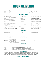 resume template resume example it musical theatre resume format cv audition resume format