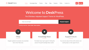 best helpdesk wordpress themes for your business wpexplorer deskpress effortless helpdesk support wordpress
