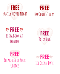 printable valentine s day coupon book for kids mom on timeout you can also make your own of course or printable coupons online such as ones that offer breakfast in bed ice cream date night
