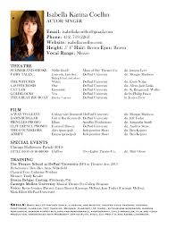 professional actors resume format cipanewsletter child acting resume format template word isabella k new headshot