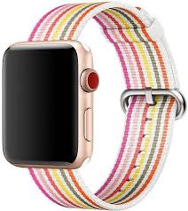 <b>Ремешок</b> STR Woven <b>Nylon Band</b> for <b>Apple</b> Watch 42/44 mm - Pink ...