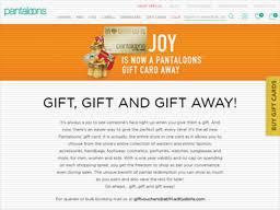 Pantaloons | Gift Card Balance Check | Balance Enquiry, Links ...