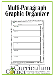 graphic organizer for multi paragraph research papers the multi paragraph graphic organizer for students the curriculum corner