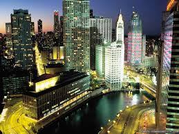 downtown chicago buildings usa downtown offices storehouses stores wallpaper