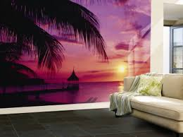 Purple Living Room Wall Murals Purple Ocean Wallpaper Murals For - Bedroom wall murals ideas