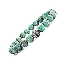 Men <b>Beaded</b> Bracelet, <b>8mm Natural</b> Gemstone Agate & 925 Sterling ...