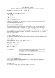 professional resume format samples comple summary of full size of resume sample professional resume format samples comple summary of qualification