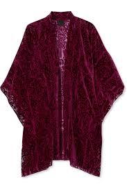 Purple <b>Fairy</b> Fields devoré-chiffon kimono   <b>Anna Sui</b>   NET-A ...