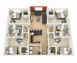 "ideas about Bedroom House on Pinterest   Property For Sale     Four "" "" Bedroom Apartment House Plans"