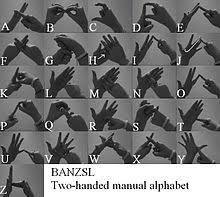 Two-handed <b>manual</b> alphabets - Wikipedia