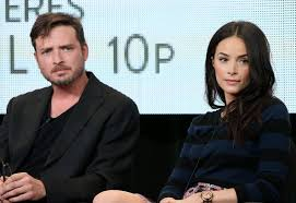 Photo of Aden Young & his friend Abigail Spencer