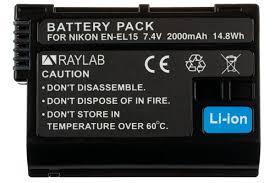 <b>Аккумулятор Raylab RL-ENEL15</b> 2000мАч (для Nikon D750, D500 ...