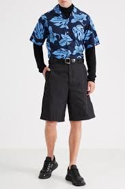 Черные кроссовки из кожи и <b>текстиля</b> Prada – купить в интернет ...