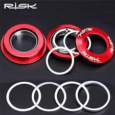 RISK <b>1pcs</b>/lot 0.3/<b>1</b>/2/3mm <b>Bicycle</b> Fork Washer <b>Aluminium Alloy</b> ...