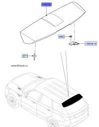 Верхний задний <b>спойлер багажной двери</b> Range Rover Sport ...