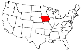 Image result for iowa on us map