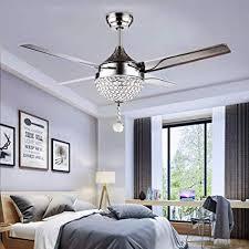<b>Crystal</b> Modern 44 Inch Ceiling Fan <b>Remote Control</b> Home ...