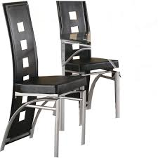 transitional dining chair sch: amazoncom coaster home furnishings contemporary dining chair silver black set of  chairs