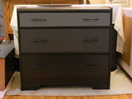 black painted color small dresser table after makeover with 3 drawer ideas black painted furniture ideas