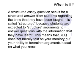 answering structured essay questions structured essay questions