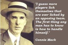 You're born with two strikes against you, so don't by Connie Mack ... via Relatably.com