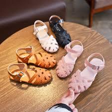 <b>Kids</b> Korean Sandals <b>Shoes Girls</b> Leather Gladiator Sandals Hollow ...