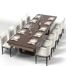 chair dining tables room contemporary: modern dining table d model moderndiningtablecontemporaryurectanguladsetchair modern dining table d model