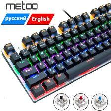 Механическая <b>проводная игровая клавиатура</b> Metoo, с ...