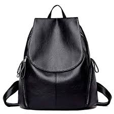 IBFUN Pu Leather <b>Backpack</b> for <b>Women</b> Water Resistant <b>Casual</b> ...