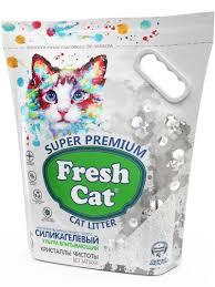 <b>Fresh Cat Кристаллы чистоты</b> 5л 2кг силикагелевый наполнитель ...