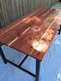 cedar kitchen table