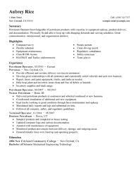 best petroleum operator resume example livecareer create my resume