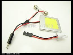 100X 6W Panel Reading Interior Light Adapter Dome <b>T10</b> 194 W5W ...
