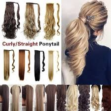 <b>Curly</b>/<b>Straight Ponytail Hairpiece</b> In As Real Human Hair Extensions ...