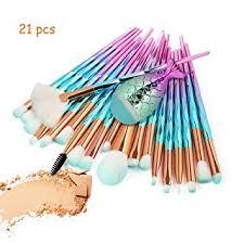 Makeup Brushes Set 21 pcs 3D Mermaid Makeup ... - Amazon.com