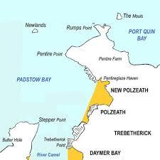 polzeath wikiwand Polzeath Map sketch map showing polzeath and the surrounding area polzeath map google