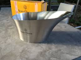 Veuve Clicquot large <b>stainless steel ice</b>-bucket - fits 4 bottles ...