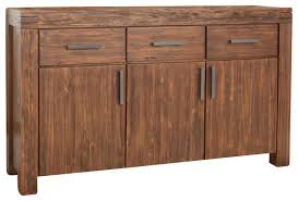meadow 3 drawer 3 door solid wood sideboard brick brown contemporary buffets brown solid wood furniture