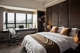 brown classic and modern with white comfort bed with brown storage and bedroom home office with bedroom home office view
