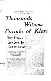 mrskhistory ku klux klan article written about the parade