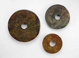 charles lang r and his collection of neolithic liangzhu  11 three nephrite disks from the neolithic liangzhu 3339128186 culture ca 3300 ca 2250 bce later decoration added