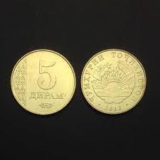 Tajikistan Single Coin, 5 diram, 2011, KM#23, UNC, Uncirculated ...