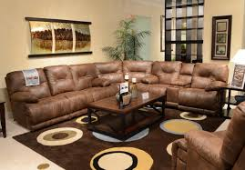awesome dark brown wood cool design furniture comfortable living room leather l shape sofa table night awesome large living room